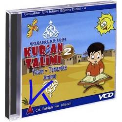 Kur'an Talimi 2, çocuklar için - Ok takipli, Mealli, sesli, görüntülü Yasin-Tebareke-Amme Sureleri - VCD