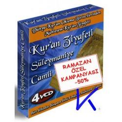 Kur'an Ziyafeti Süleymaniye Camii 4 VCD set - 6 Hafız - görüntülü, dünya Kuran okuma birincilerinden Kuran Ziyafeti
