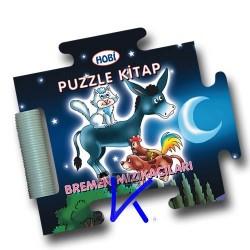 Puzzle Kitap - Bremen Mızıkacıları - Sert kitap - bebek - Hobi