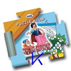 Puzzle Kitap - Pamuk Prenses ve Yedi Cüceler - Sert kitap - bebek - Hobi