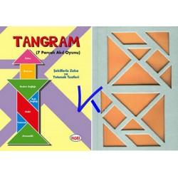 Tangram - 7 parçalı akıl oyunu - şekillerle zeka ve yetenek testleri