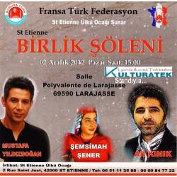 02.12.12 Konser: Musataf Yıldızdoğan, Ali Kınık ve Şemsimah Şener konserinde sergimizle sizlerleyiz...