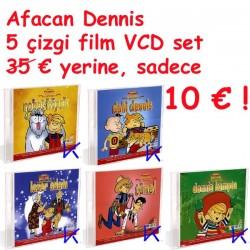 Afacan Dennis 5 çizgi film set - Afacan Dennis - çizgi film - VCD