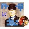 Genç Mustafa Kemal - Puzzle Kitap - VCD Hediyeli