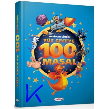 Yüz Geceye 100 Masal - Neriman Şimşek - ciltli