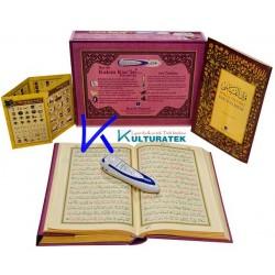 Kalem Kur'an - Elifba ilaveli - Kuran ve elifbe okuyan Kalem - pembe renk - Hayrat - kalem Kuran