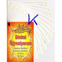 Dinimi Öğreniyorum - Imanın Şartları, Islamın Şartları, 32, 54 Farz - kartela