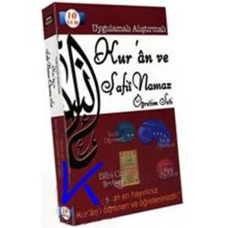 Kur'an ve Şafii Namaz Öğretim Seti - uygulamalı, alıştırmalı - 10 VCD + elifbe cüzü hediyeli