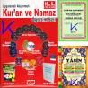 Kur'an ve Namaz Öğretim Seti - uygulamalı, alıştırmalı - 10 VCD + 5 CD + elifbe cüzü + Yasin kitabı + kokulu tesbih hediyeli