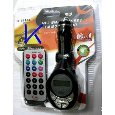 MP3 WMA Wireless FM Modulator - Araba MP3 Çalar, Oto MP3 çakmaklık