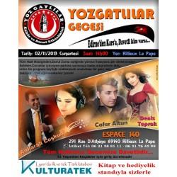 02.11.13 cumartesi günü Yozgatlılar Şenliğinde kitap ve hediyelik sergisi - 69140 Rillieux la Pape