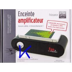 Enceinte Amplificateur pour Smartphone et MP3 - sans cable, ni branchement
