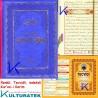 Tecvidli Kur'an-ı Kerim - Tecvid kitabı Hediyeli - lüks baskı - mavi renk kapak - orta boy - Sefa